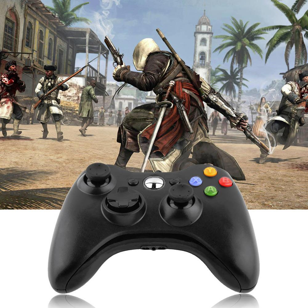 USB Wired Joypad Game Controller Gamepad for PC Game Controller Microsoft  Xbox & Slim 360 for Windows 7 joystick Drop Shipping aluminum metal analog thumbstick mushroom 3d joystick cap cover shell for microsoft xbox 360 xbox360 controller