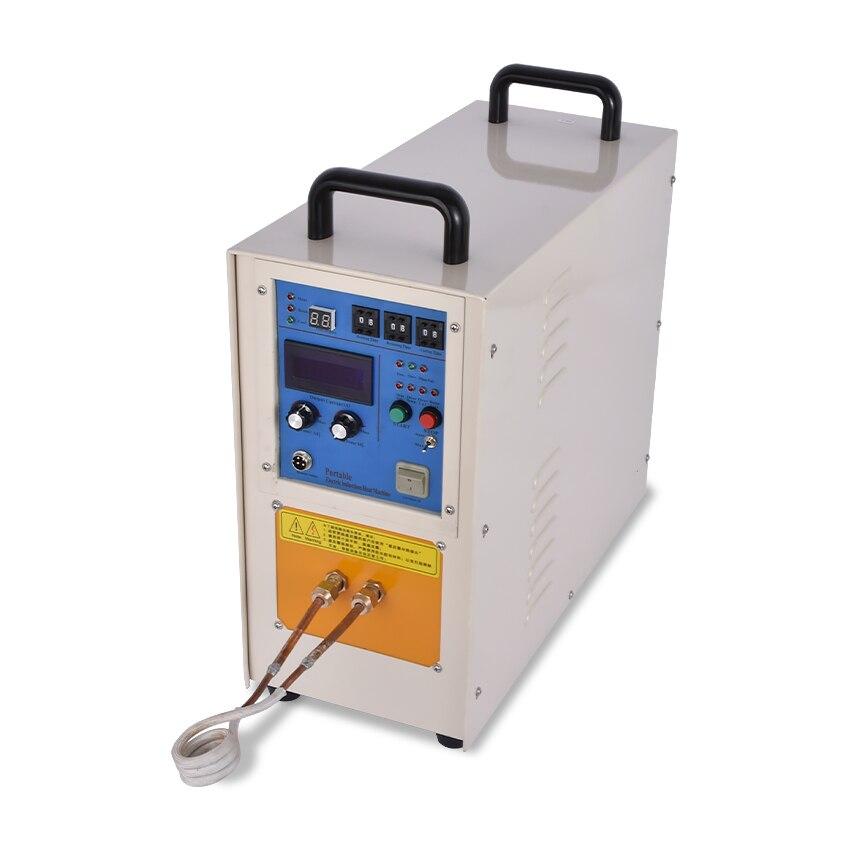 15KW 30-100 kHz alta frecuencia de inducción calentador máquina equipos de enfriamiento pequeño horno de fusión 220 V/110 V 1-99 s 0.2Mpa, 2L/min