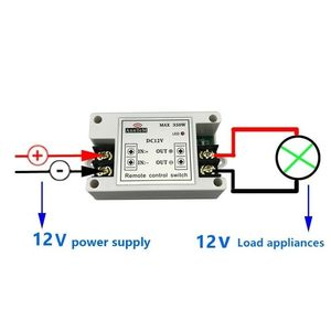 Image 3 - ワイヤレスリモートコントロールスイッチ 433 433mhz の rf 送信受信機 12 v ユニバーサルバッテリ電源回路コントローラ車 led ストリップライト