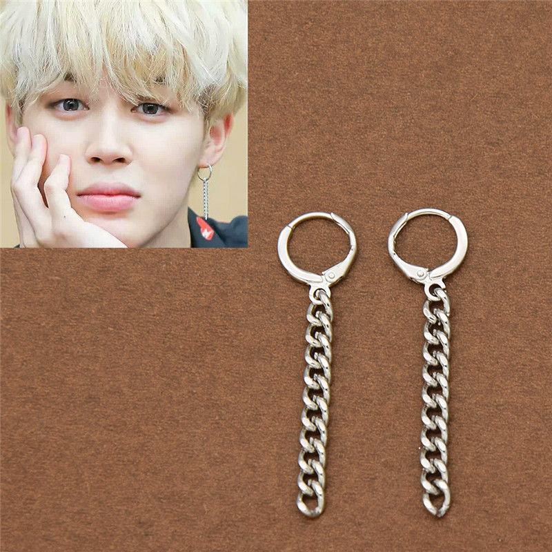 2pcs Lot Kpop Bangtan Boys Album Bts Jimin Stud Earrings