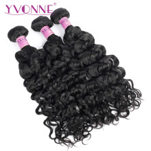Yvonne Italian Curly Brazilian Virgin Hair 1 Piece Natural Color 100% Human Hair Weaving Free shipping