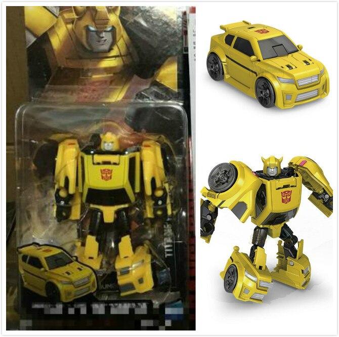 original de alta calidad de plstico abs idw titanes de vuelta cm coches deformacin robot bumblebee robots figura de accin