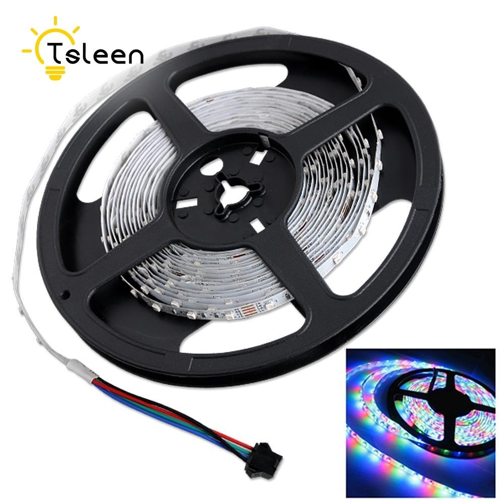 Tsleen Harga Terbaik 1 M 5 Ip65 Anti Air Rgb Led Strip Lampu Usb Sikat Fleksibel Rgbw Dc 12 V Smd 5050 3528 60 300 Warna Warni