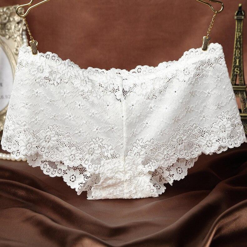 KJ36 Women's Intimates Sexy Lace Underwear Low Waist Female Briefs Breathable Women's Panties