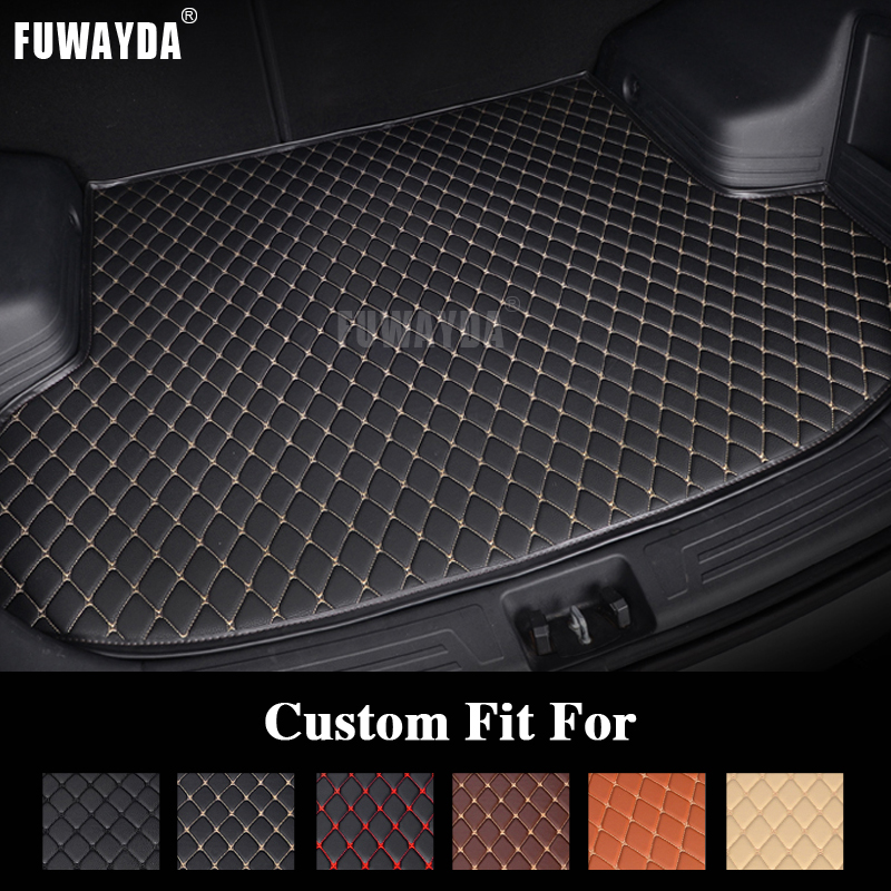 FUWAYDA car ACCESSORIES Custom fit car trunk mat for LAND ROVER Range rover sport 2001-2011 travel non-slip  waterproof beige black for land rover discovery sport 2015 2016 2017 rear trunk security shield cargo cover auto accessories