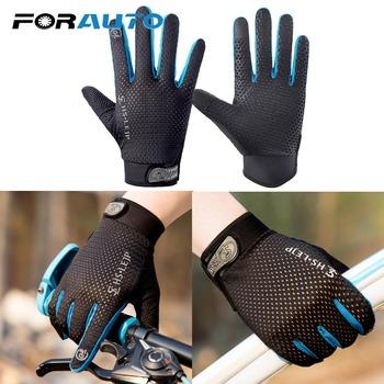 FORAUTO rękawiczki do ekranu dotykowego rękawice motocyklowe rowerowe rękawiczki z pełnym palcem ochronny sprzęt do uprawiania sportów na świeżym powietrzu tanie i dobre opinie Poliester i bawełna Unisex 19754