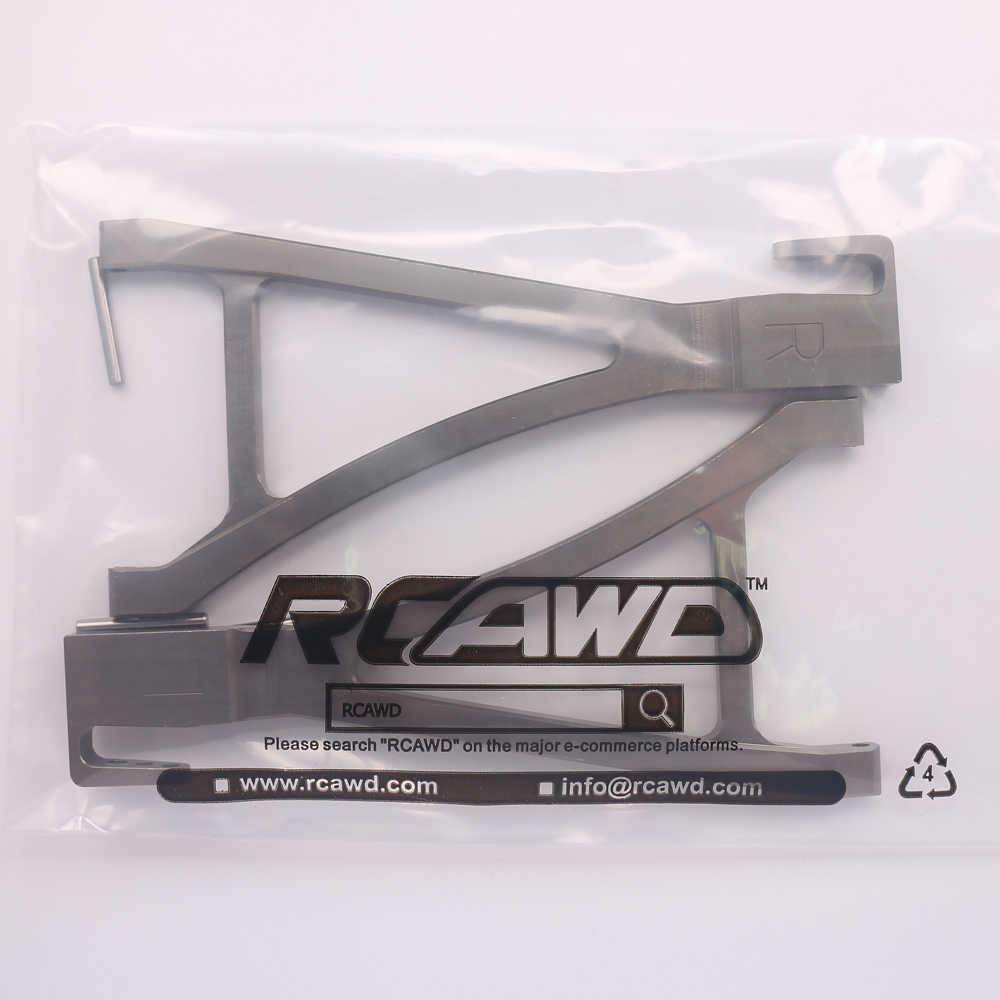 2 قطعة RCAWD الجبهة السفلى ذراع نظام التعليق أ الذراع ل Rc هواية سيارة 1/10 Traxxas E-ريفو قمة القاتل Maxx Revo3.3 ERO-006 سبيكة 5332