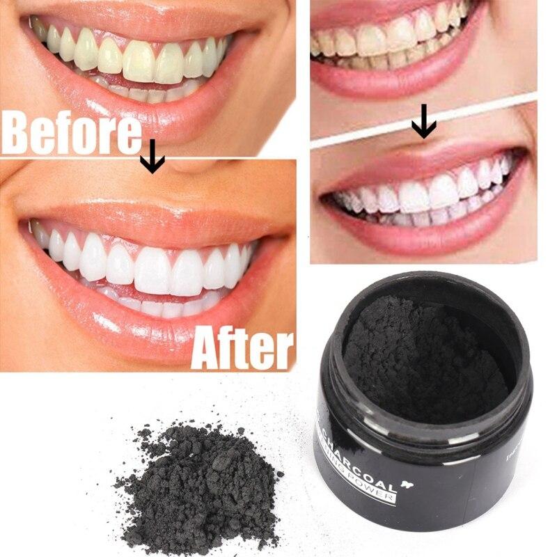 Schönheits-Zahn-Zahnweißungs-Pulver-Rauch-Kaffee-Tee-Fleck entfernen Mundhygiene-Zahnpflege-Bambus-Aktivkohle-Pulver