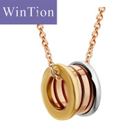 WINTION BULGARIA 925 sterling silver authentic original multicolor round pendant necklace classic fashion ladies free shipping