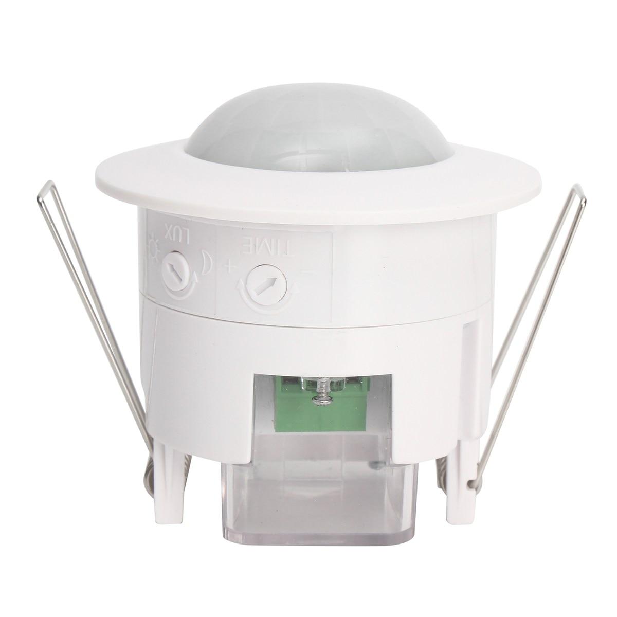 Safurance 110V-240V Infrared Ceiling PIR Body Motion Sensor Detector Light Lamp Switch 360 Home Automation safurance 6 led bulbs pir sensor motion detector light lamp black motion sensor home security safety