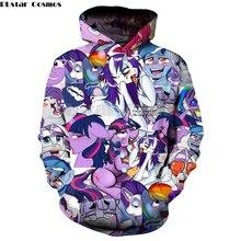 PLstar Cosmos милый брендовый пуловер верхняя одежда для женщин и мужчин пальто маленькие куртки «Пони» пальто толстовка с капюшоном