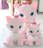 Whole Sale And Retails 25cm cat plush toy Mary cat doll lovers gift 1pair/lot Birthday Gift