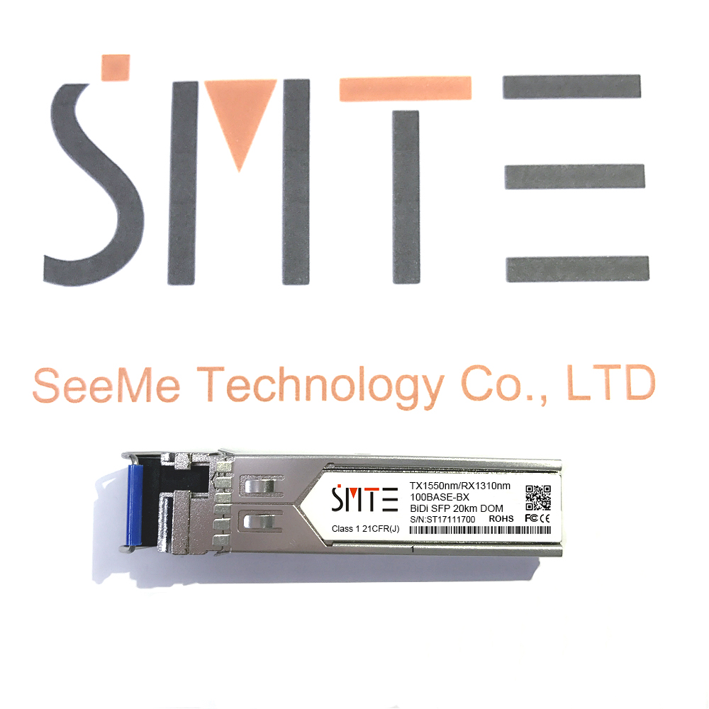 Compatible With SFP-1G-BXU-20 1000BASE-BX BiDi SFP TX1550nm/RX1310nm 20km DDM Transceiver Module SFP