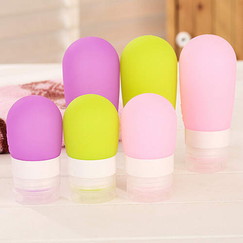 Empty Silicone Travel Packing Press font b Bottle b font for Lotion Shampoo Bath Container 9X9L