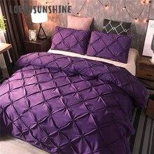 LOVINSUNSHINE ชุด King Size Luxury ชุดเครื่องนอนสีม่วงผ้านวม AB #137
