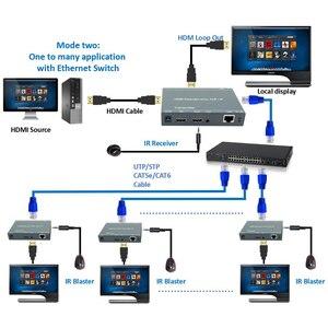 Image 4 - 660ft lepiej niż HDBitT H.264 konwerter HDMI TCP IP HDMI IR Extender przez Ethernet RJ45 CAT5/5e/6 kabel jak rozdzielacz HDMI