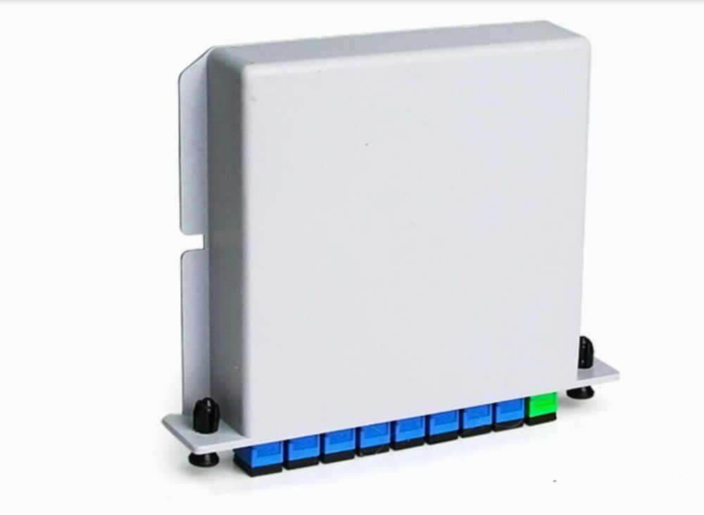 1 × 8 وحدة PLC الألياف البصرية الخائن صندوق SC موصل الألياف أداة PLC الخائن الألياف المتفرعة جهاز