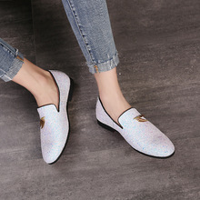 Luxury Men Loafers Shoes Slip On Moccasins Plus Size 38-48 Glitters Bling Stylish Flats Shoes Man Party Shoes