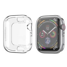 40mm 44mm Watch Cover Ultra Thin Crystal Clear Hard Case for Apple Watch Series 4 Full Screen Protector Transparent Coque fundas pandaoo superior ultra clear series lcd screen protector for retina ipad mini transparent