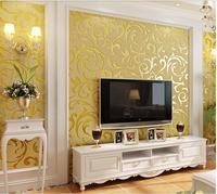 Lusso Europeo Profondo Rilievo Wallpaper Per Pareti 3D Argento Beige Fiore oro Papel De Parede Soggiorno Tv Sfondo Casa Decor