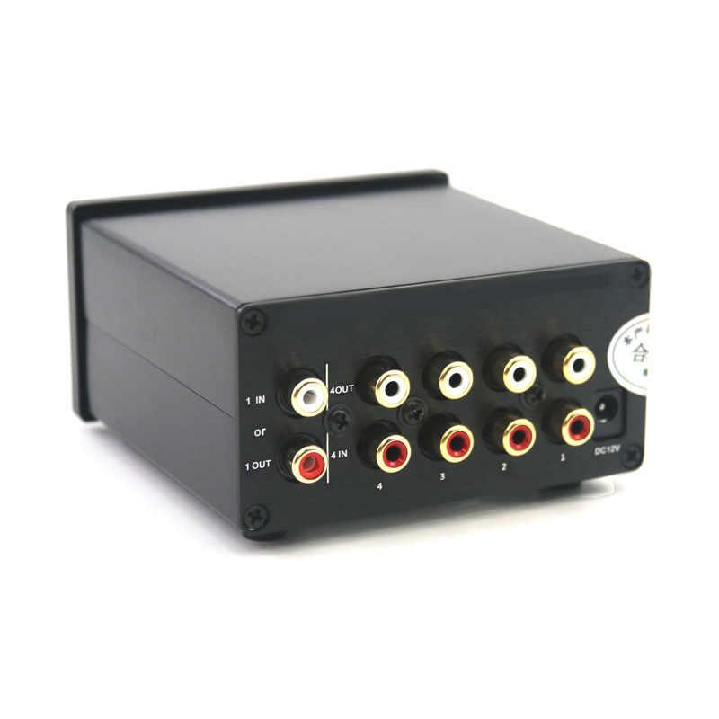 4 wejście 1 wyjście/1 wejście 4 wyjście dwukierunkowy sygnał Audio 4-kanałowy przełącznik stereo przełącznik splitter selektor z AC100V-240V RCA