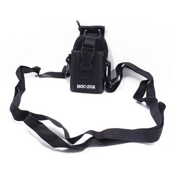 2pcs abree msc-20a  walkie talkie nylon case holder pouch bag for kenwood baofeng uv-5r uv-5ra uv-5rb uv-5rc uv-b5 bf-888s