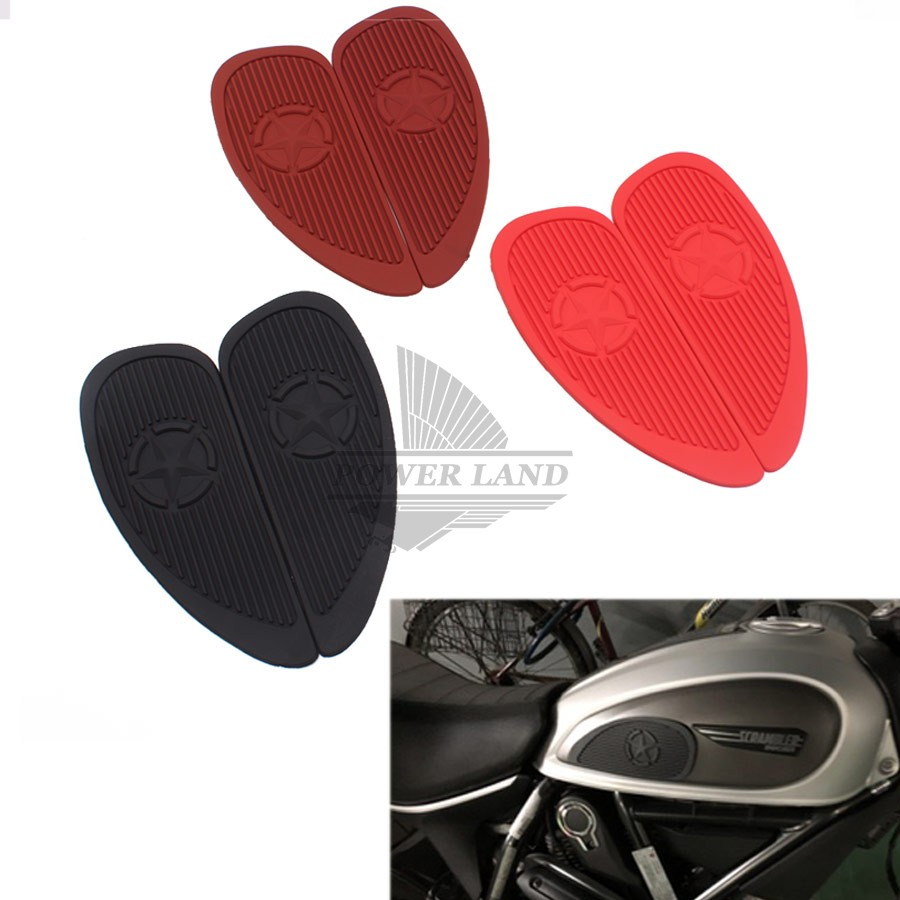 1 Pair Retro Motorcycle Cafe Racer Gas Fuel Tank Rubber Stickers Pad Protector Sheath Knee Grip Protector Decals & Stickers Automobiles & Motorcycles
