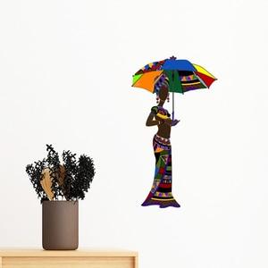 Африка Карта Savanna слон женщина Мексиканская дикая природа черный женский съемный стикер на стену художественные наклейки росписи DIY обои на...