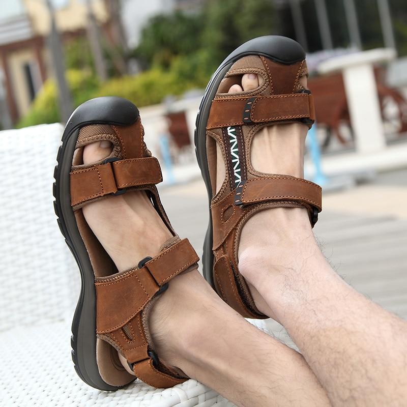 Hot sale men sandals new fashion men casual shoes comforthable breathable zapatos hombre sandals hook&loop Baotou men sandalias