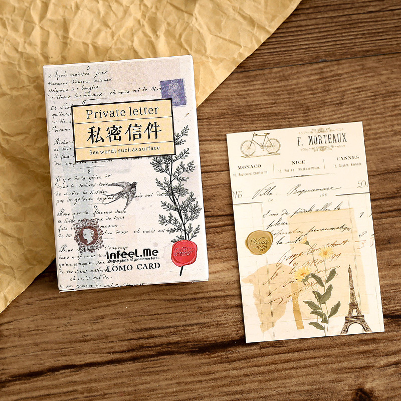 28 Sheets/Set Creative Private Letter Lomo Postcard /Greeting Card/Wish Card/Christmas And New Year Gifts