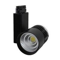2pcs Lot 30W Black White Housing 80Ra CREE COB LED Track Light 24 Degree Beam Angle