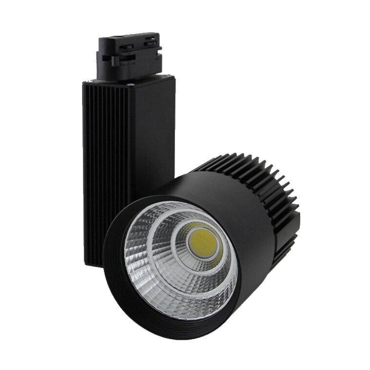 2 pcs/lot 30 W noir/blanc logement 80Ra CREE COB LED lumière de voie 24 degrés angle de faisceau livraison gratuite