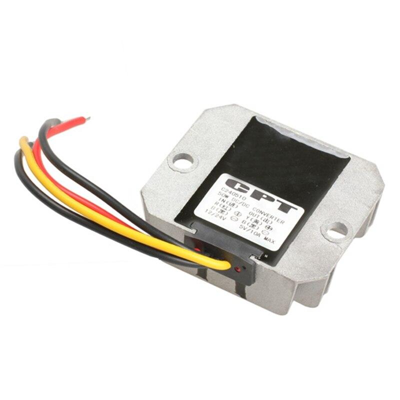 Car Auto DC-DC Converter Step-down 12V/24V to 5V 10A 50W Car Power Professional Converter for Car High Quality Auto Converter