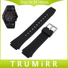 Correa de caucho de silicona + herramienta para casio eqw-m1100c/eqw-a1000b reemplazo venda de reloj de los hombres de la correa de pulsera pulsera de la correa negro