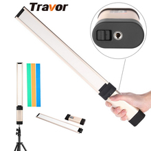 Travor New arrival LA-L2 led video light 98 LED adjustable Color Temperature with three Color Filters rechargeable 18650 battery