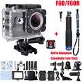 F60/F60R 4 K Câmera de vídeo Wi-fi 170 Lente de Largura 30 M Ação cam ir pro estilo 2.4G remoto à prova d' água + Alumínio Extensível com Pólo Vara