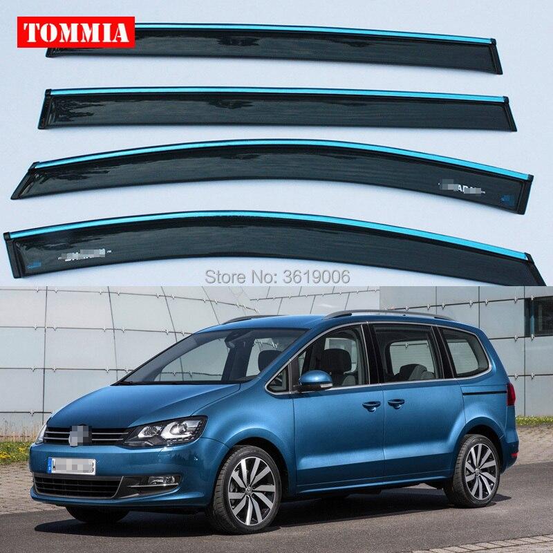 Tommia tout neuf pour Volkswagen Sharan fenêtre visière ombre Vent pluie déflecteur garde couverture 4 pièces/ensemble