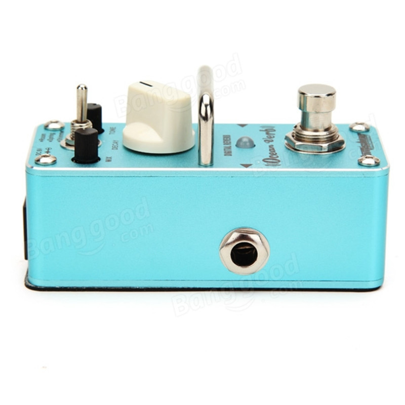 Hot AOV-3 Ocean Verb Digital Reverb Electric Guitar Effect Pedal Mini Single Effect with True Bypass joyo jf 317 space verb digital reverb mini electric guitar effect pedal with knob guard true bypass