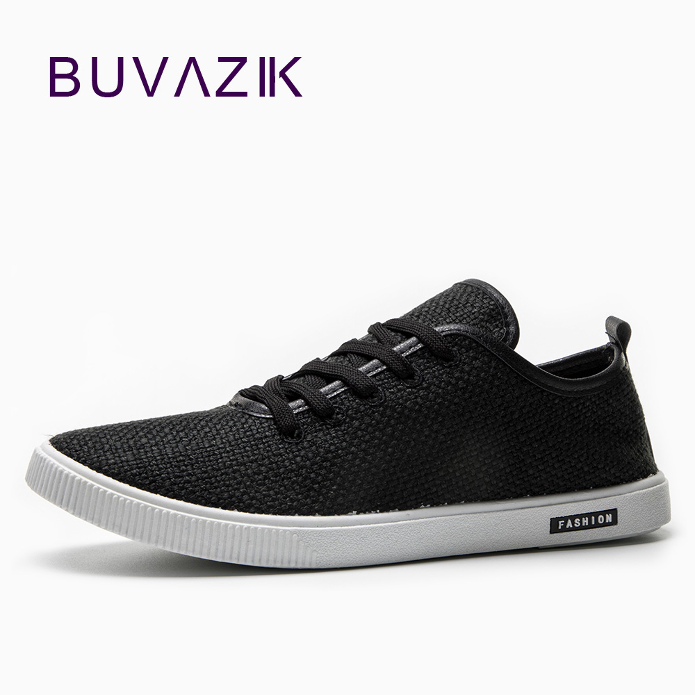 BUVAZIK mens canvas casual shoes white fashion sneakers high quality hard-wearing rubber sole breathable and comfortable