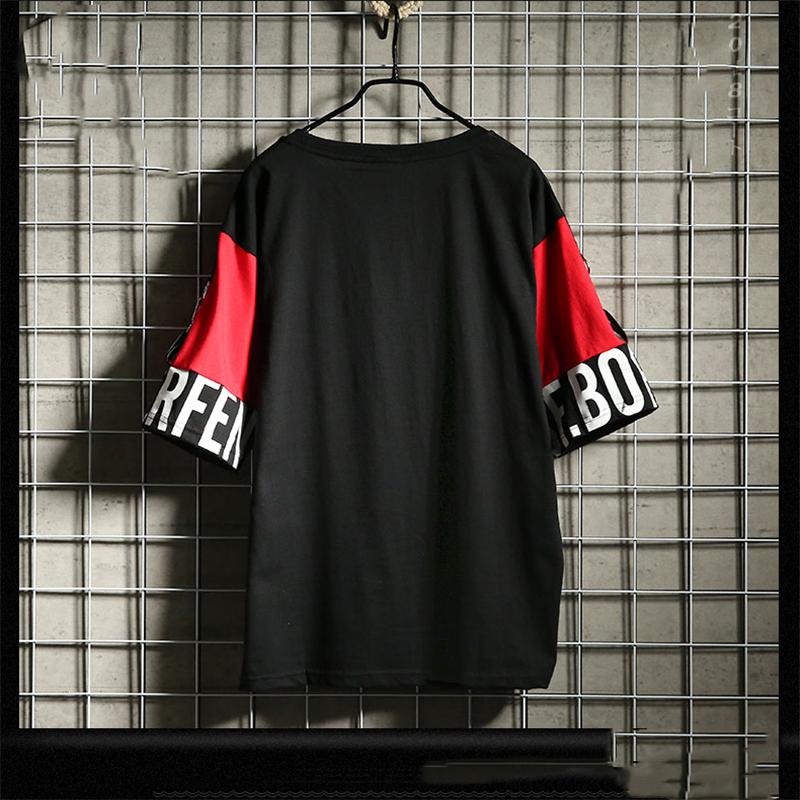 Hip Hop T Shirt Harajuku Streetwear Man's T-shirt Korean Half Anime Shirt Teen Clothes Black Shirt Free gift 12