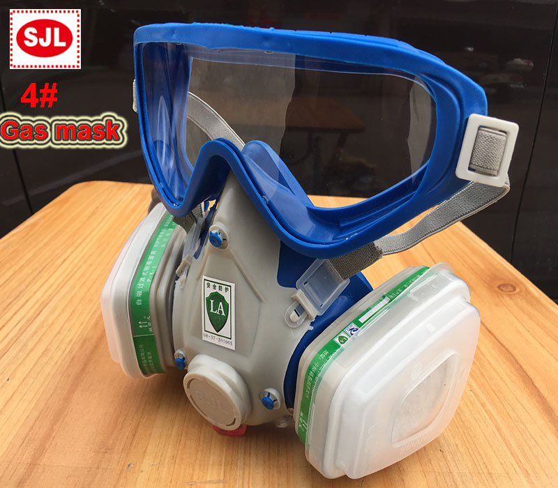 SJL respirator gas mask A4 against Ammonia protection respirator mask Painting pesticide protective mask high quality respirator gas mask brand practical type protective mask painting pesticide industrial safety chemical gas mask