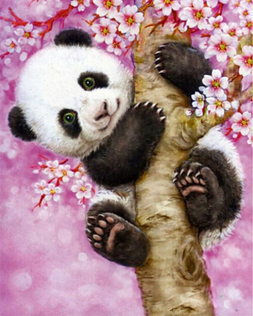 DRAWJOY Lovely Panda Framed Pictures Painting By Numbers Owl DIY Digital Oil Painting On Canvas Home Decoration Wall Art