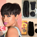 New Arrival Cheap Pixie Cut Short Human Hair Weave Unprocessed 28 Pieces Weave for African Americans Best Indian Hair Extension