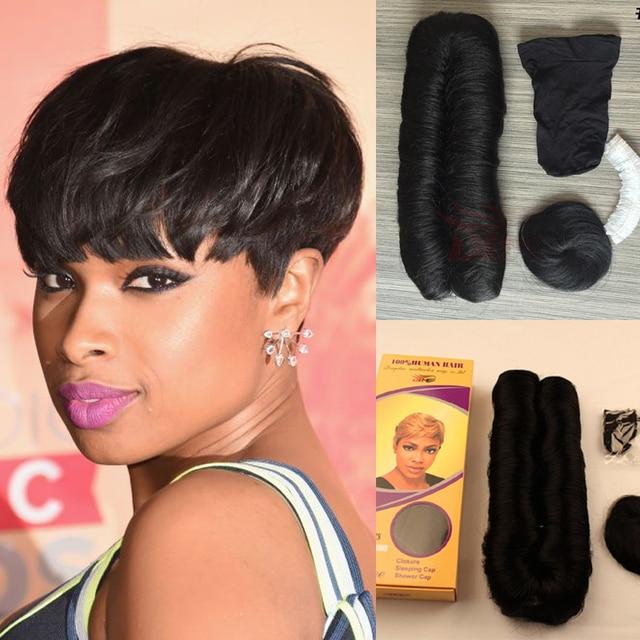 New Arrival Cheap Pixie Cut Short Human Hair Weave Unprocessed 28