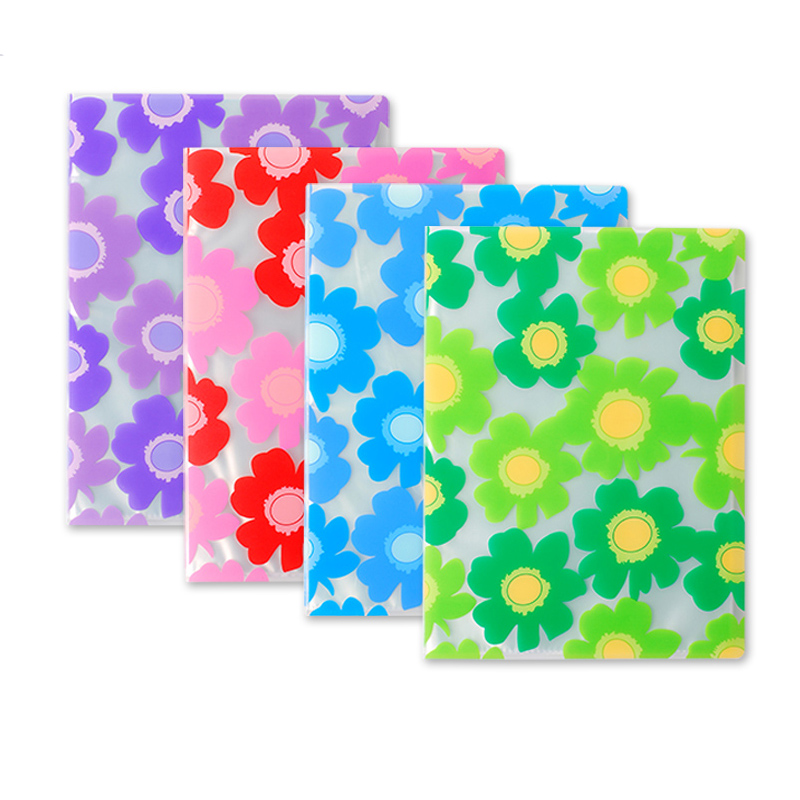 PVC Plastic Folder File  With Clear Pockets A4 8.5x11 Letter Size Documents Drawing Paper Display Holder Office Supplies