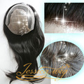 4 In Beautie Customized 16 inch  Long Hair Women Toupee with Polyskin and Fine Welded Mono Front Women Hairpieces
