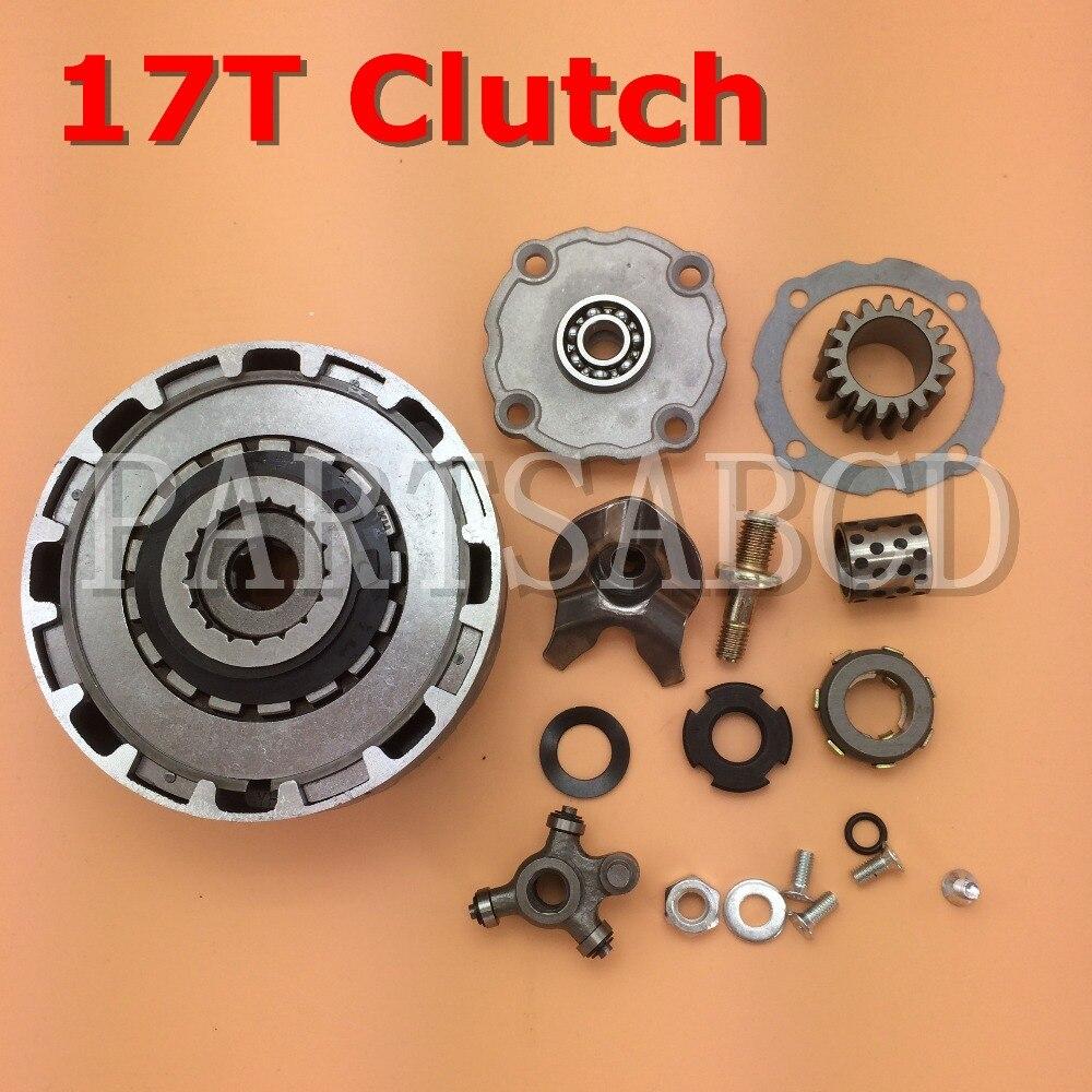 Partsabcd 17t 17 Teeth Semi Automatic Clutch Assy 50cc 90cc 110cc