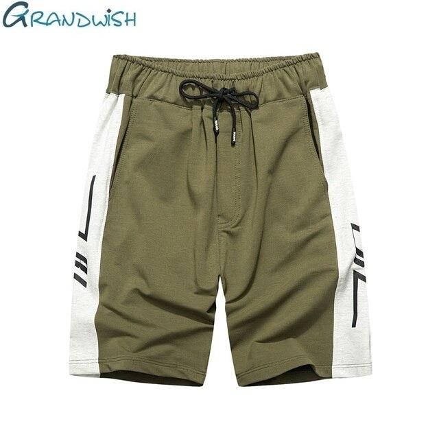 81b1df144e Grandwish Summer Cotton Shorts Men Bodybuilding Boardshorts Male Casual  Shorts US Size Comfortable Short Masculino ,