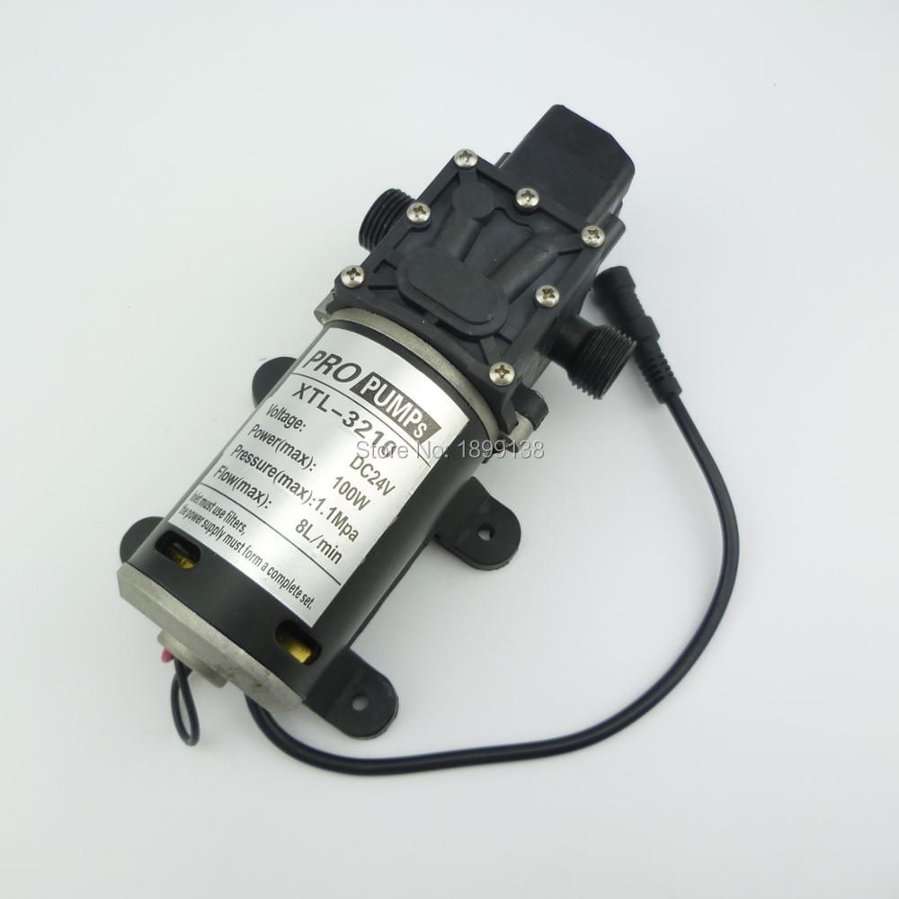 8L/Min 100w 100psi small electric diaphragm High Pressure automatic pressure switch dc 12v sprayer pump for car washer 8l m 170kpa pressure electric diaphragm brushless dc massage equipment pump