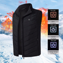 Мужская и женская жилетная куртка без рукавов с электрическим подогревом, жилет USB, теплая одежда, зимняя теплая куртка, верхняя одежда, мужской жилет с подогревом